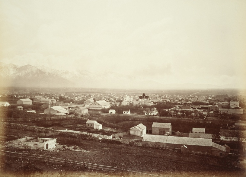 Salt Lake City in the 1880s, photographed by Carleton Watkins