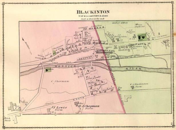 Blackinton map