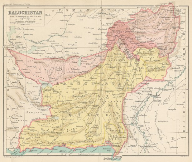 Map of Baluchistan in 1907