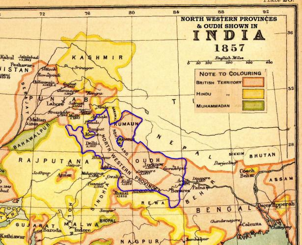 North-Western provinces in 1857