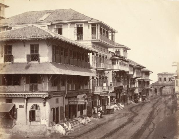 Street in Bombay in the 1860s